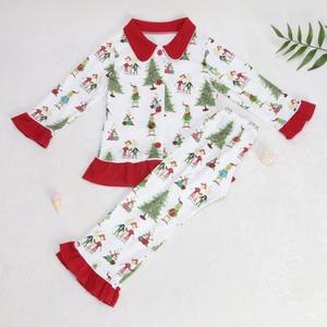 Image 3 - תינוק חג המולד פיג מה דפוס חולצות ילדים סטי בנות שמלות מכנסיים הלבשה עליונה & מעילי משפחת התאמת שינה בגדים