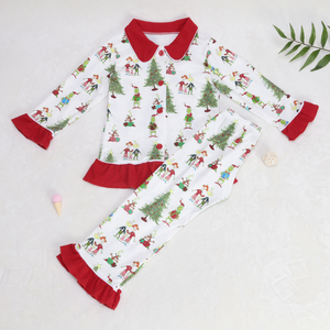 Image 3 - Baby Christmas pajamas Pattern T Shirts Childrens Sets Girls Dresses Pants Outerwear & Coats Family Matching Sleep clothes