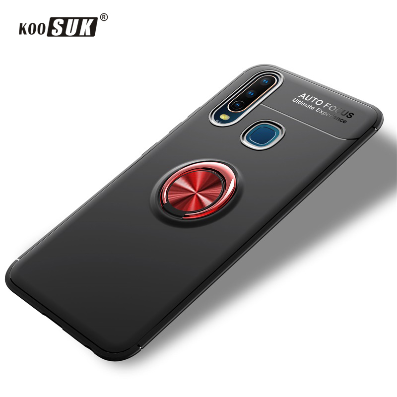 Koosuk Silicone Soft <font><b>Case</b></font> For <font><b>Vivo</b></font> Y17 Y15 Y12 <font><b>Y3</b></font> 2019 U3X U10 Car Holder Bracket Rotate Ring Armor Bumper Phone Back Cover image