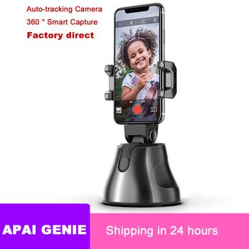 Przenośny uniwersalny automatyczny inteligentny aparat fotograficzny Selfie Stick 360 obrót Auto Face Tracking Object Tracking vlog Camera Phone Holder tanie i dobre opinie Crust Pro ABS + Silicone Smartfony 93 x 93 x 165 4mm (L x W x H) Apai Genie Bluetooth 192g 360° object tracking holder
