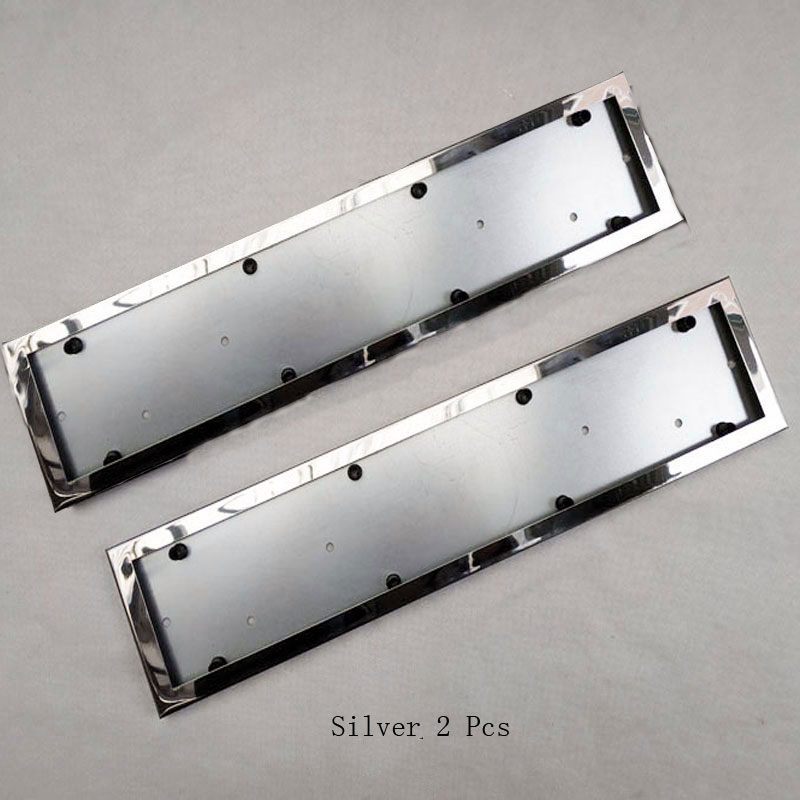 2 Pcs For EU Car License Plate Frame Metal Car License Plate Frame Number Plate Holder  Car Accessories