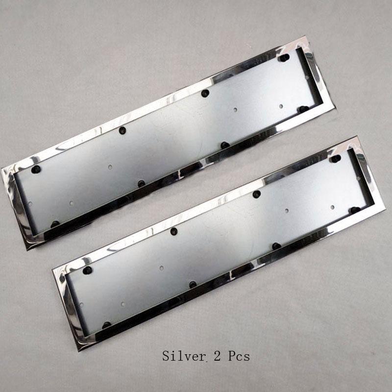 2 Pcs For EU Car License Plate Frame Metal Car License Plate Frame Number Plate Holder  Car Accessories