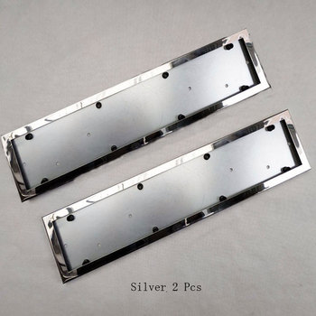2 Pcs For EU Car License Plate Frame Metal Car License Plate Frame Number Plate Holder Car Accessories фото