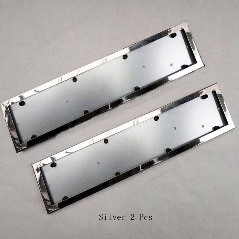 2 Pcs Per Auto UE License Plate Frame In Metallo da Auto License Plate Frame Numero di Targa Accessori Auto Titolare