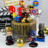 gifts for kids children toys avengers party birthday cake decorating batman superman spiderman captain america cupcake toppers