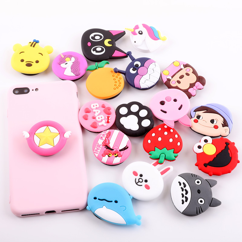 Hot-Phone-Holder-Cartoon-air-bag-Popular-ring-Expanding-Stand-Finger-bracket-base-finger-top-support