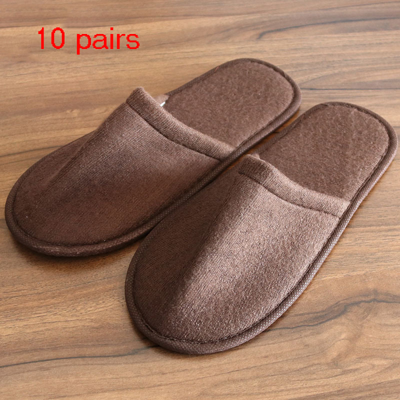 10 Pair Kids And Adult Hotel Travel Spa Disposable Slippers Home Guest Slippers White Shoes Disposable Slippers