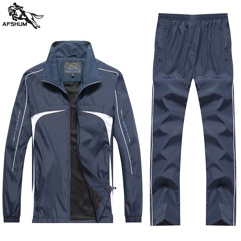 Sport Suit Men Splice Sports Jacket+Pants Tracksuits Men's Spring Autumn Fitness Running Suits Set Jogging Tracksuit Sudadera