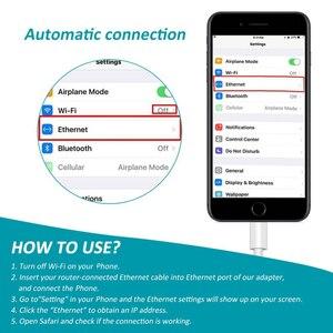 Image 5 - アダプタ雷に RJ45 イーサネット Lan 有線 Networrk 100 150mbps のネットワークケーブル海外旅行コンパクト iphone 7/ 8/7 1080P/8 1080P