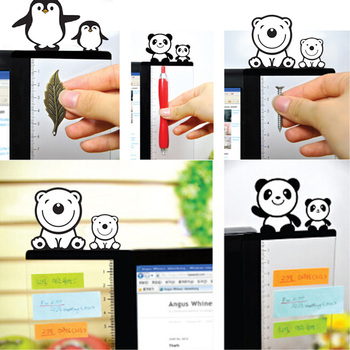 1Pair Cute Acrylic Monitor Memo Board Sticky Notes Message Board Holder for Tabs Phones Computer PC Left and Right Side 1