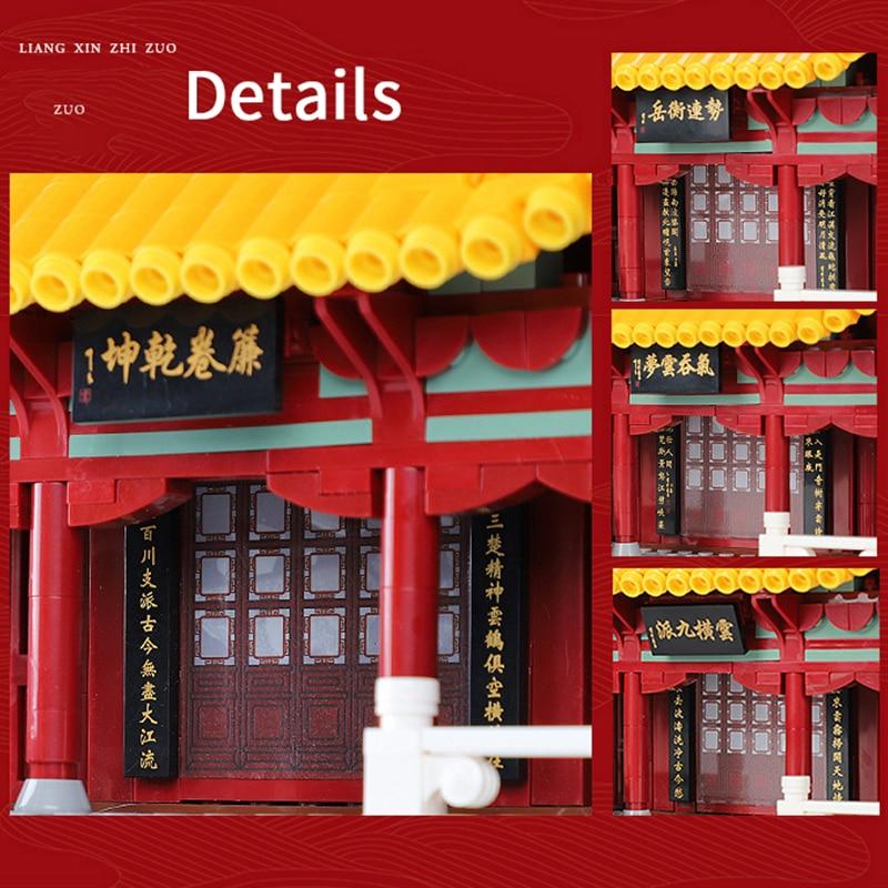 6794 pçs arquitetura famosa amarelo guindaste torre blocos de construção compatível legoedly montar brinquedos educativos presentes para crianças - 2