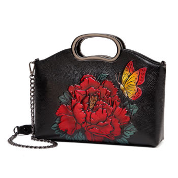 floral genuine leather bag women 2020 luxury handbags bags designer cow for handbag