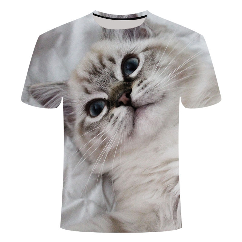 3D Print Fashion Men And Women Tops 3d Print Funny Printed Cats Short Sleeve Summer Men And Women Tops T-Shirt S-6XL