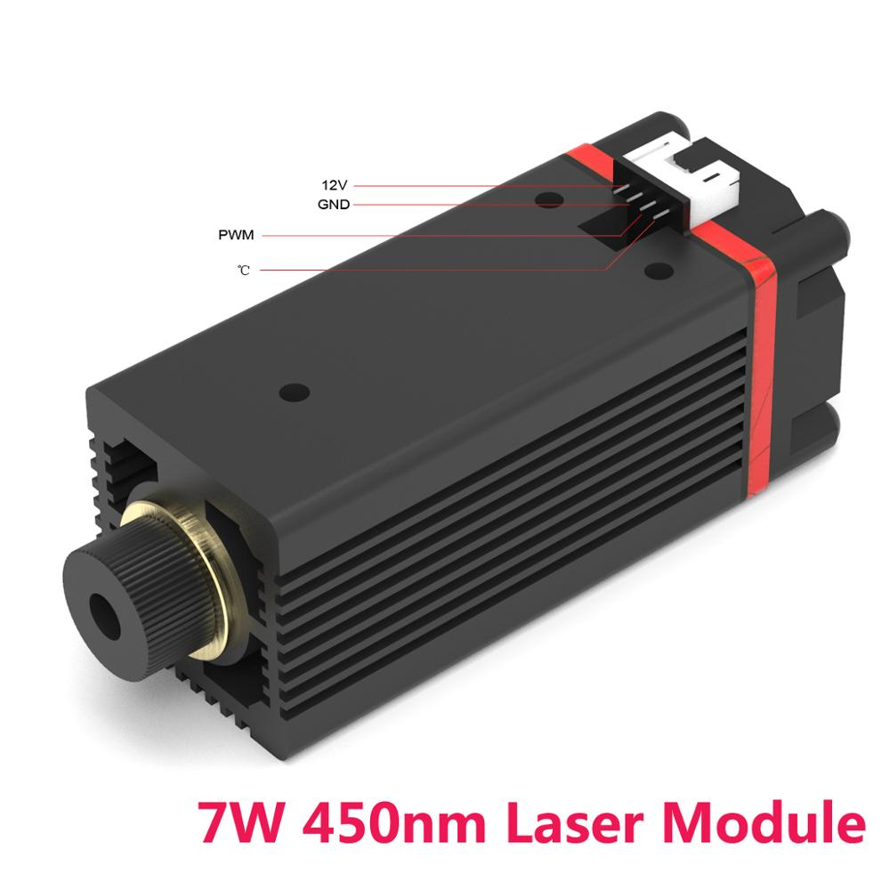 NEJE 7W 450nm Laser Tube Module Alumina Oxide Metal Engrave Machine Replacement For NEJE MASTER Laser Engraving Machine