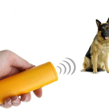 Portable Ultrasonic Dog Repeller Vibrating Light Control Trainer 3 In 1 Anti-barking Scare Dog Bark Deterrents Training Device