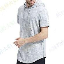 Международная торговля желаний Мужская футболка с капюшоном на молнии с длинным вырезом лодочкой сплошной цвет футболка с капюшоном сплошной цвет короткий рукав Футболка Amazon