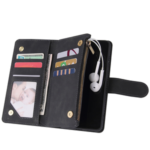 Image 3 - Zipper Wallet Leather Phone Case For Huawei P40 Pro P30 Lite Mate 30 Pro Honor 20 10i P Smart 2019 Flip Case Book Magnetic Case
