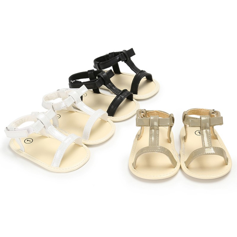 Fashion PVC Infant Kid Baby Girl Sandals Casual Crib Shoes First Prewalker Summer Baby Shoes