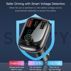 Image 4 - Baseus Quick Charge 4.0 Car Charger for Phone FM Transmitter Bluetooth Car Kit Audio MP3 Player Fast Dual USB Car Phone Charger