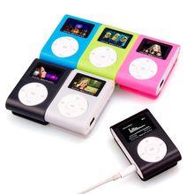 Caixa de metal mini usb clipe mp3 player tela lcd 3.5mm estéreo jack suporte 32gb micro sd tf cartão apoio língua inglês chinês