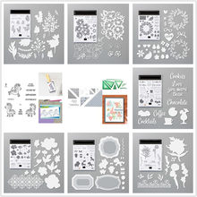 Metal Cutting Dies Cut Die Mold And Clear Stamp Set For Scrapbook Paper Craft Knife Mould Blade Punch Stencils Dies