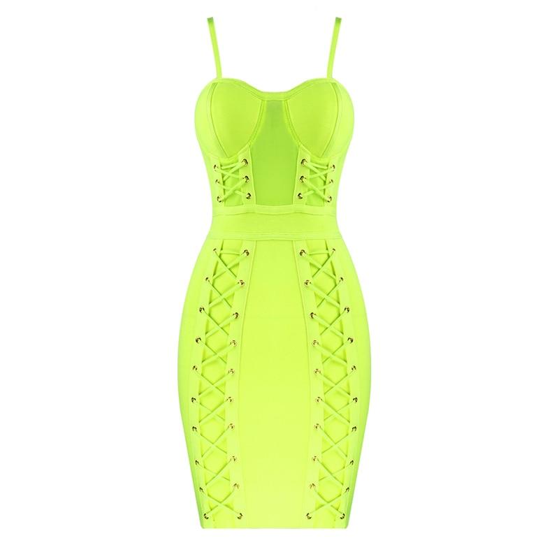 2019 moda strapless spaghettli strapless cinta laço elegante feminino bodycon vestido de verão - 5