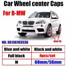4 шт. 68 мм 56 мм Центральная втулка колеса автомобиля Шапки крышки обода Шапки чехлы с логотипом для BMW X5 1 3 5 7 серия E90 E92 E60 E61 F18 F30 G30 G38 G11 G12
