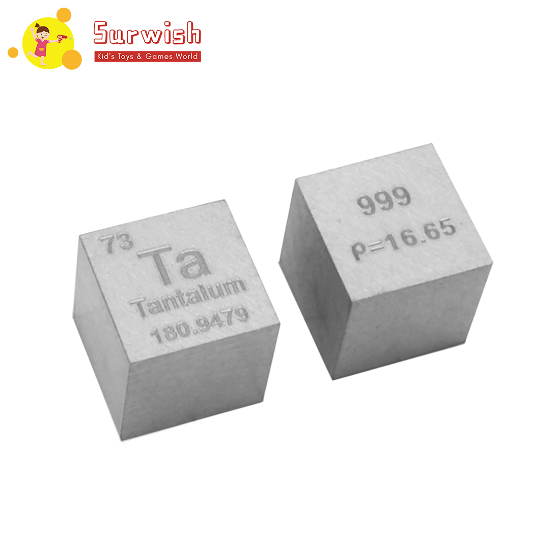 Surwish Mini 10X10X10mm tréfilage Cube de tantale Table périodique des éléments Cube (Ta≥99. 96%)