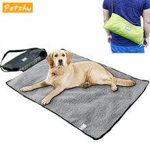 Petshy Warm Portable Pet Bed for Dog Cat Blanket Mat Lamb Cashmere Puppy Cats Sleeping Pad Cushion Waterproof  Pet Dog Rug Sofa