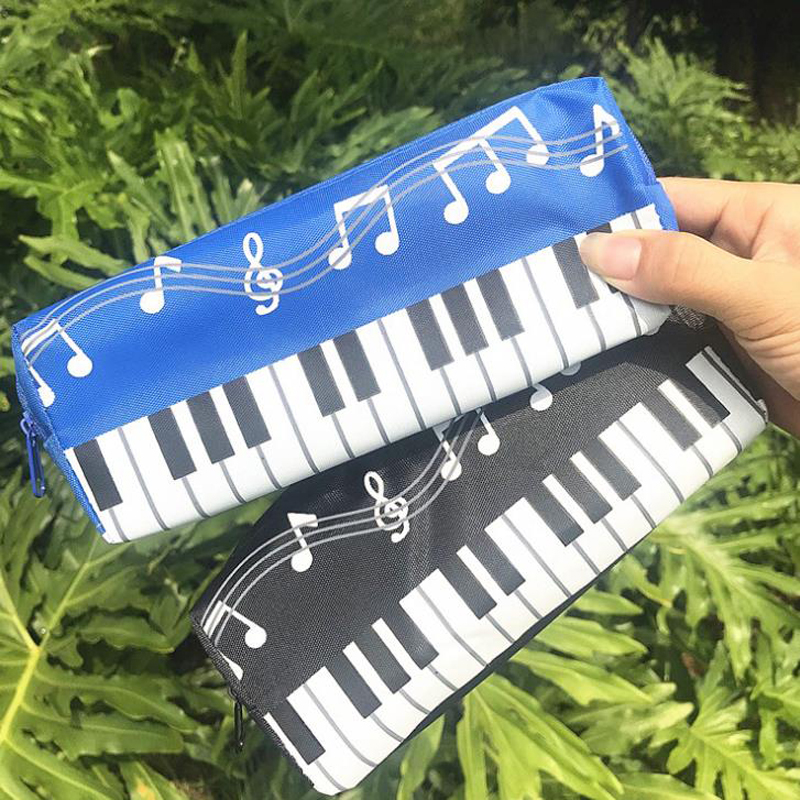 1 Pcs Kawaii Music Notes Piano Keyboard Pencil Case Large Capacity Pencil Bags Student Stationery Office School Gifts