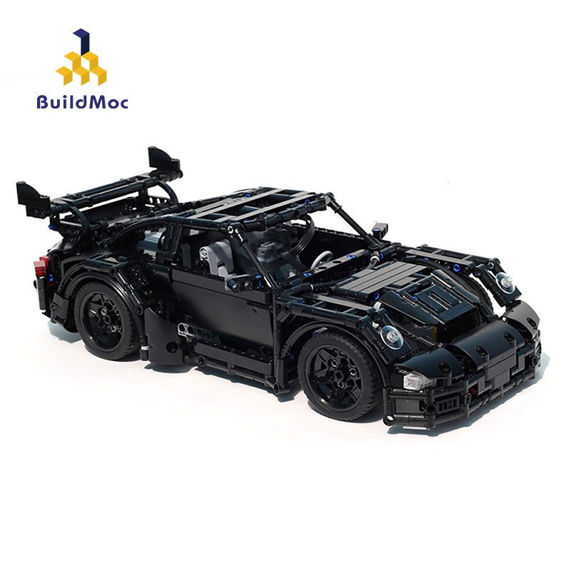 BuildMoc Technic RC Car Kids Toys Building Blocks City Racing Super Sports Car Blocks MOC Vehicles Educational Toy For Children image
