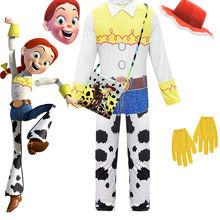 2019Toy Verhaal 4 De Yodeling Cowgirl Jessie Jumpsuits Outfit Cosplay Halloween Carnaval Kostuums Voor Meisje Complete Sets(China)
