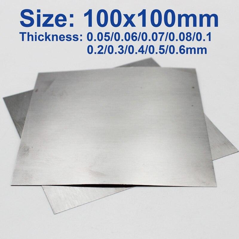 99.99% Pure Tungsten Sheet Plate