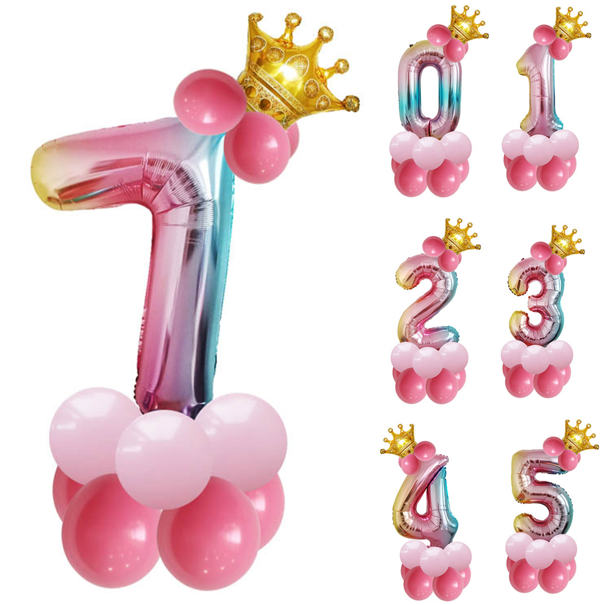 32 Inch Big Foil Birthday Balloons Air Helium Number Balloon Figures Happy Birthday Party Decorations Kid Baloons Birthday Balon