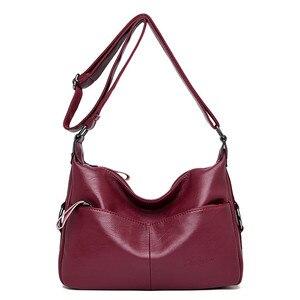 Image 2 - Winter Stil Weichen Leder Luxus Handtaschen Frauen Taschen Designer Doppel Tasche Frauen Taschen für Frauen 2020 Geldbörsen und Handtaschen Sac