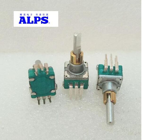 Image 2 - 1pcs/lot ALPS EC11 type dual axis encoder dual switchless adjustment 30 positioning number 15 pulse handle length 20MMSwitches   -