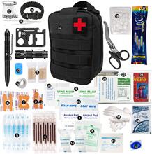 250 sztuk etui awaryjne zestawy pierwszej pomocy Survival Trauma Bag Outdoor Gear Storage Compact na Camping piesze wycieczki polowanie Travel tanie tanio Eyoyo CN (pochodzenie) Emergency Medical Luggage Emergency Supplies for Wilderness Survival First Aid Kit