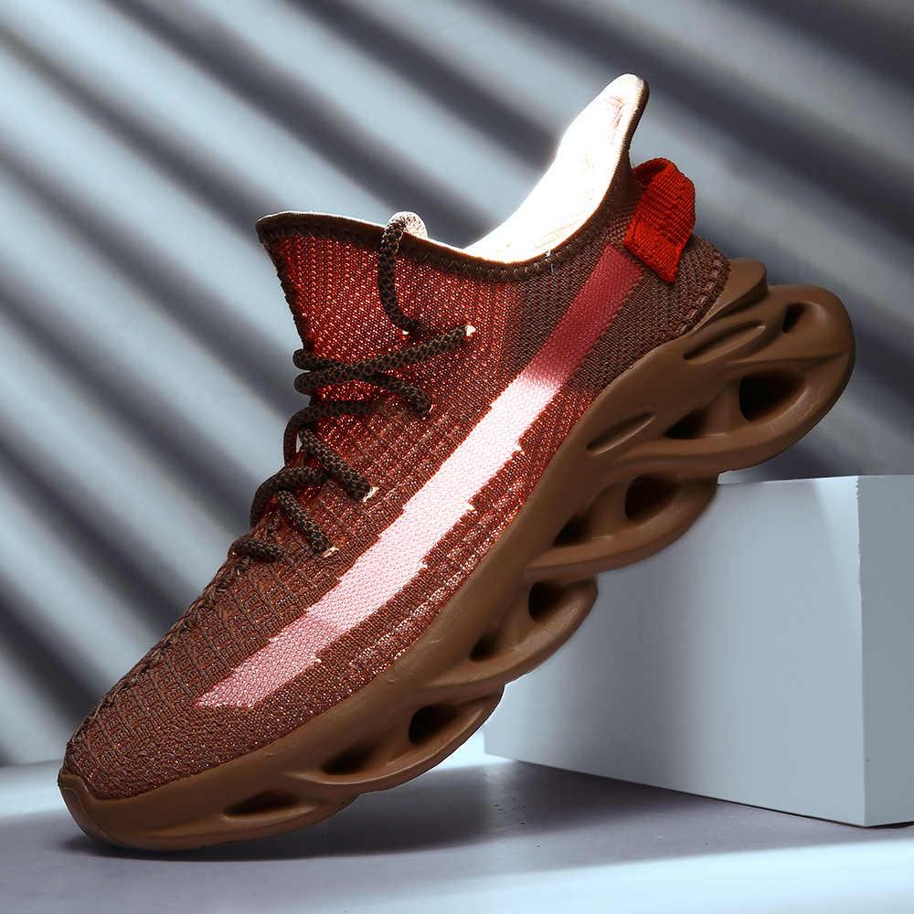 Модная мужская повседневная обувь; Легкие ткацкие кроссовки; Мужская дышащая сетчатая обувь на плоской подошве; светящаяся кружевная обувь; Zapatillas Deportivas