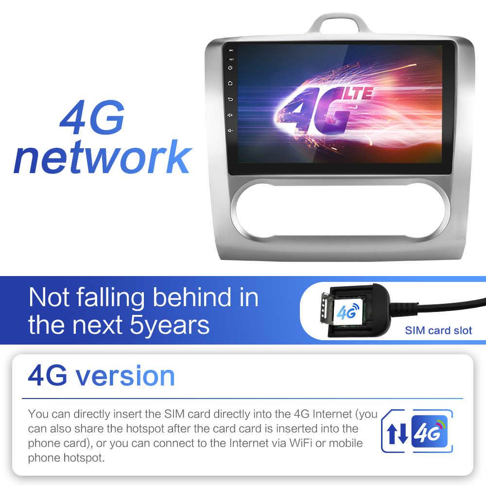 2G + 32G DSP 2 din Android 8.1 4G netto Radio samochodowe multimedialny odtwarzacz wideo dla Ford Focus EXI MT MK2 MK3 04-11 WiFi BT adapter rama