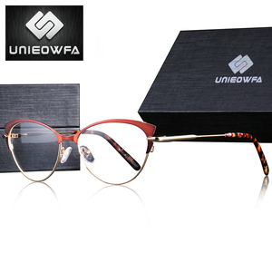 Image 2 - Retro Cat Eye Optical Myopia Glasses Frame Women Progressive Prescription Eyeglasses Frame Clear Degree Eyewear Frame Spectacles