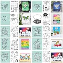 Набор прозрачных штампов в виде бабочек для девочек с изображением