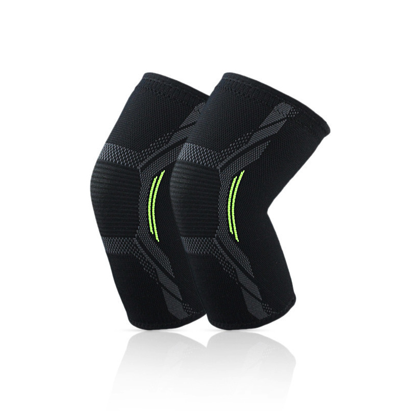 Unisex summer thin section sports knee pads four sides knit nylon knee pads to protect the ball sports goods 1pcs