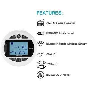 Image 3 - Marine Bluetooth Stereo Radio FM AM MP3 Player Audio + 4 inch Marine Waterproof Outdoor Speakers For Boat ATV UTV Motorcycle