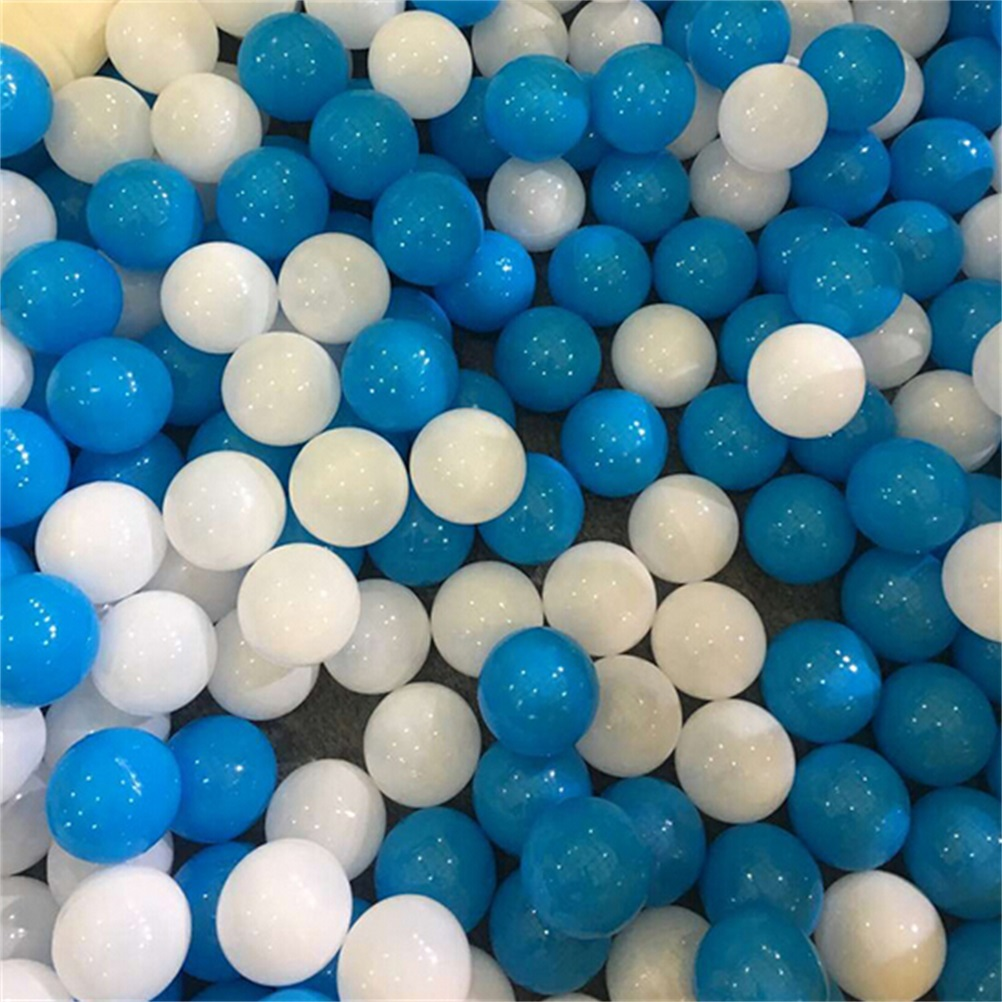 10 Pcs/lot Eco-Friendly White And Blue Soft Plastic Ocean Ball Funny Baby Kid Water Pool Ocean Wave Ball Diameter 7cm