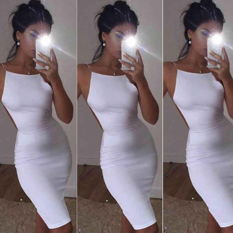 נשים גבירותיי שרוולים ללא משענת שמלת חצאית גוף קון מסיבת ערב קוקטייל מיני שמלה