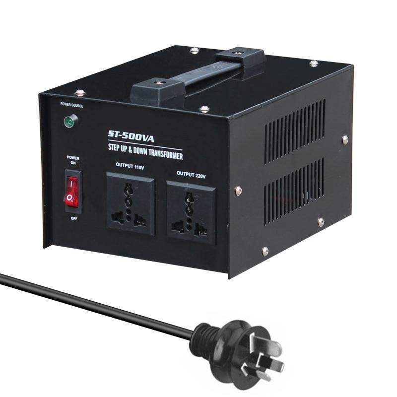 ST-500 500W Home-use Intelligent Efficient Step Up Down Transformer 100V-220V Household Electrical Appliance Voltage Converter