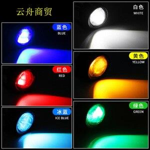 Image 4 - 2 шт. мотоцикл Hawk Eye лампа Ghost Fire лампа модификация педаль лампы led зеркало лампа головной свет лампа для Rogue зеркало заднего вида лампа