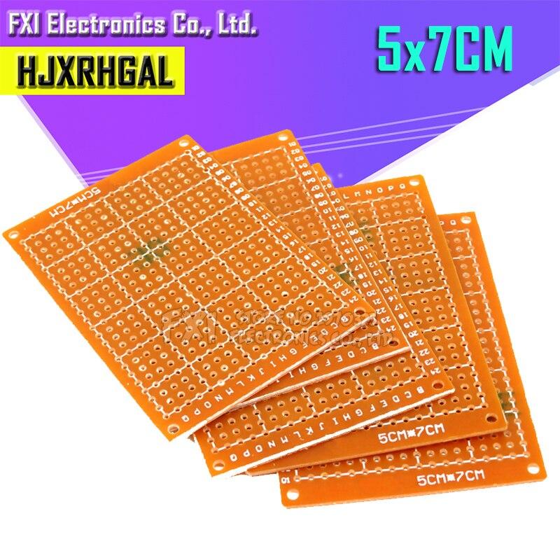 2 шт. 5*7 см pcb прототип бумага Медь PCB 5*7 Универсальный Эксперимент Матрица платы 5x7 см бренд igmopnrq