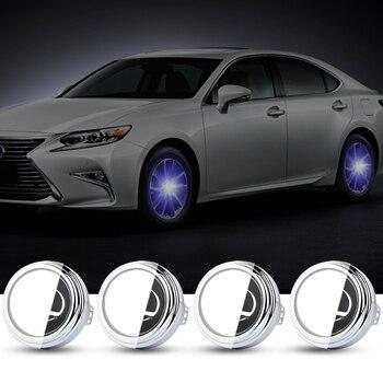 For LEXUS 62mm 4X Hub Light Car Wheel Caps Light Center Cover Lighting Cap Floating Illumination LED bulb auto car styling