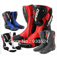 Men Sport Bike Rider Motorcycle Motor Waterproof High Fiber Leather Shoes Boots Boot For Harley Honda Yamaha Kawasaki Suzuki